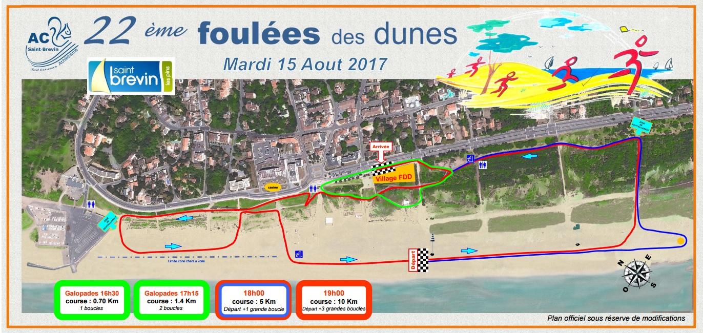 parcours foulées des dunes 2017